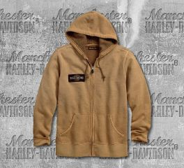 Harley-Davidson® Men's Pale Khaki Upright Eagle Slim Fit Hoodie 99090-18VM