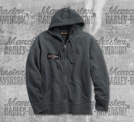 Harley-Davidson® Men's Steel Grey Eagle Logo Slim Fit Hoodie 99089-18VM