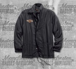 Harley-Davidson® Men's Anthracite Lightweight Nylon Slim Fit Jacket 98589-18VM
