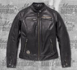 Harley-Davidson® Women's 115th Anniversary Eagle CE-Certified Leather Jacket 98016-18EW