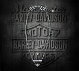 Harley-Davidson® Women's Silver Rhinestone Three Chain Necklace 99443-18VW