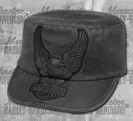 Harley-Davidson® Women's Eagle Appliqué Flat Top Cap 99446-18VW
