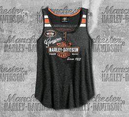 Harley-Davidson® Women's Black Genuine Oil Can Tank 99069-18VW