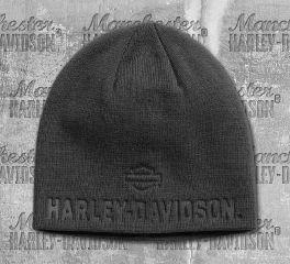 Harley-Davidson® Men's Asphalt Debossed Knit Hat 99430-18VM