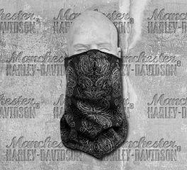 Harley-Davidson® Black Graphic Facemask Bandana 98188-18VX