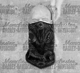 Harley-Davidson® Black Skull Facemask Bandana 98187-18VX