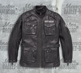 Harley-Davidson® Men's Messenger 3/4 Leather Jacket 98123-17EM