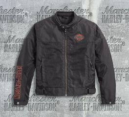 Harley-Davidson® Men's Bar & Shield® Logo Mesh Riding Jacket 98162-17EM