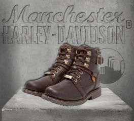 Harley-Davidson® Men's Harrison Brown Leather Boots, Wolverine D93439