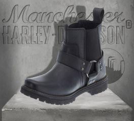 Harley-Davidson® Men's Duran Leather Boots - Black, Wolverine D93359