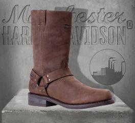Harley-Davidson® Men's Hustin Leather Waterproof Boots - Brown, Wolverine D97153