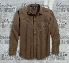 Harley-Davidson® Men's Washed Canvas Shirt 96412-18VM