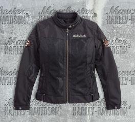 Harley-Davidson® Women's Bar & Shield® Logo Mesh Riding Jacket 98169-17EW
