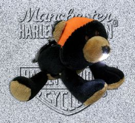 Harley-Davidson® Stuffed Black Bear Light Up Clip On Mini Plush, Kids Preferred™ LLC 20350