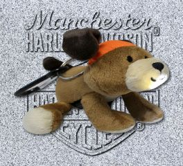Harley-Davidson® Stuffed Dog Light Up Clip On Mini Plush, Kids Preferred™ LLC 20350