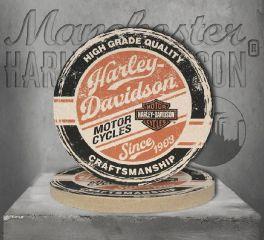 Harley-Davidson® High Grade Sandstone Coaster Set Of Two, Global Products, Inc. CS132864