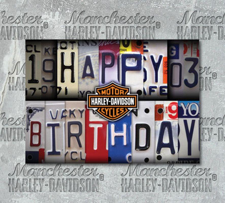 Harley Davidson License Plate Birthday Card Hdl 20002 Manchester