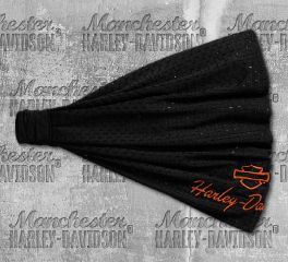 Harley-Davidson® Women's Black Embroidered Mesh Headwrap 99439-18VW