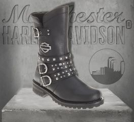 Harley-Davidson® Women's Adrian Black Leather Boots, Wolverine D87027