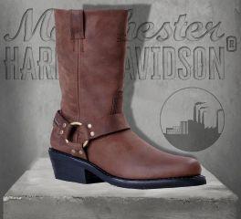 Harley-Davidson® Women's Hustin Waterproof Leather Boots - Brown, Wolverine D87025