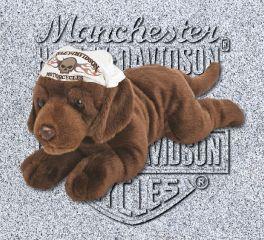Harley-Davidson® Ironhead Chocolate Lab Stuffed Toy, Kids Preferred™ LLC 20364