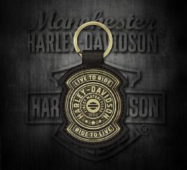 Bronze Plated Harley-Davidson® Live To Ride Shield Key Fob, Global Products, Inc. KY27868