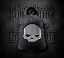 Harley-Davidson® Black Matte Willie G Skull Ride Bell, MOD Jewelry Group Inc. HRB052