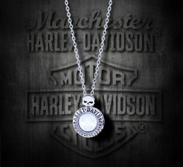 Harley-Davidson® Women's Large Willie G Skull Circle Ride Locket Necklace, MOD Jewelry Group Inc. HSN0034