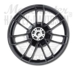 Harley-Davidson® Gloss Black Anodized 7 Spoke Rear Wheel Assembly 8x5 40900519