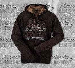 Harley-Davidson® Men's Marbled Full-Zip Long Sleeve Hoodie, RK Stratman Inc. R002756