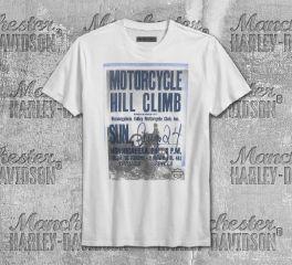 Harley-Davidson® Men's Bright White Hill Climb Slim Fit Short Sleeve Tee 96230-18VM