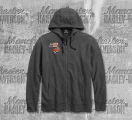 Harley-Davidson® Men's Asphalt Screamin' Eagle® Long Sleeve Hoodie 96274-18VM