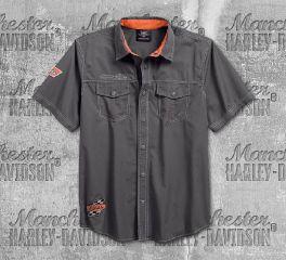 Harley-Davidson® Men's Asphalt Screamin' Eagle® Short Sleeve Shirt 96287-18VM