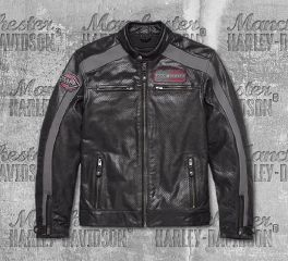 Harley-Davidson® Men's Clarno CE-Certified Perforated Leather Jacket 97011-18EM