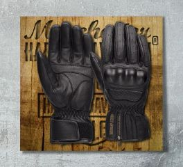 Harley-Davidson® Men's Blackout CE-Certified Leather Gloves 98179-18EM