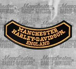 Manchester Harley-Davidson® Rocker Arm Emblem, Global Products, Inc. GP-PATCH/MANC