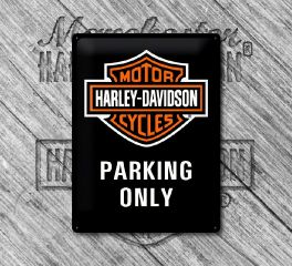 Harley-Davidson® Nostalgic H-D® Parking Only Tin Sign, Nostalgic Art 23130