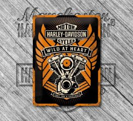 Harley-Davidson® Nostalgic B&S® Wild At Heart Tin Sign, Nostalgic Art 23222