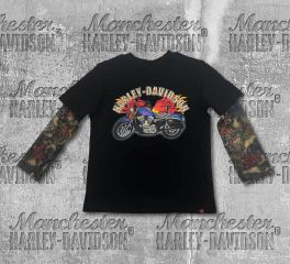 Harley-Davidson® Little Boy's Motorcycle Tee with Mesh Tattoo Sleeves, OkisOnent GmbH 1070641