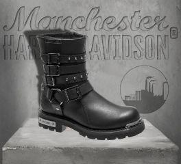 Harley-Davidson® Women's Black Eddington Boots, Wolverine D86021