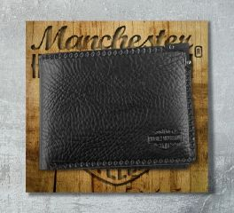 Harley-Davidson® Men's Gunmetal Bi-fold Wallet, Leather Accessory Source GM6538L
