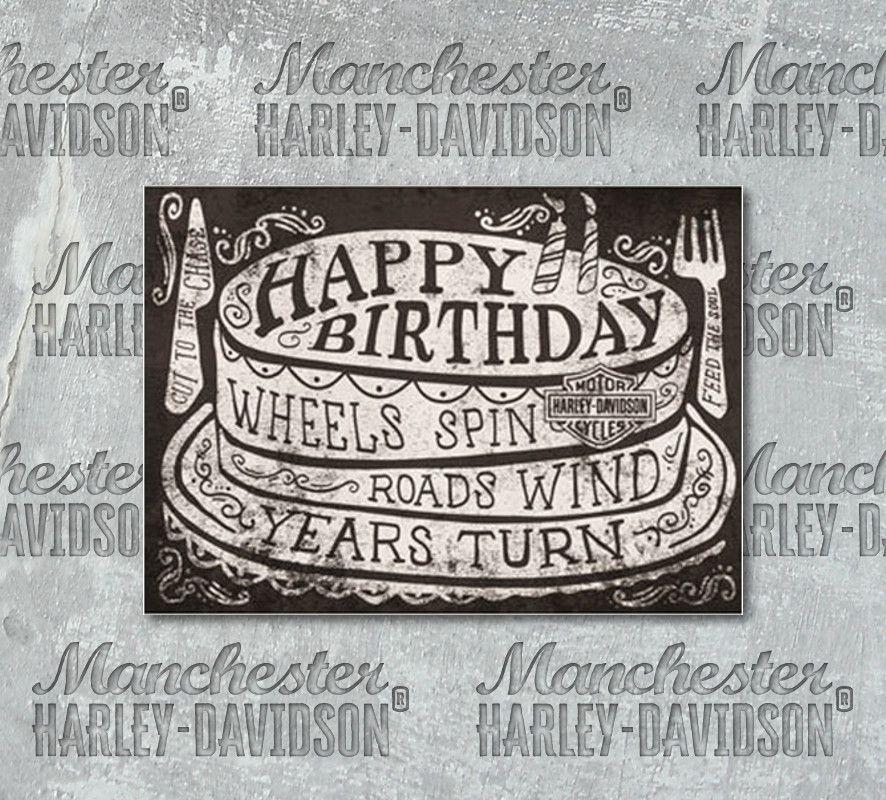 Harley Davidson Roll On Birthday Card Hdl 20051 Manchester Harley