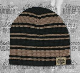 Harley-Davidson® Men's Striped H-D Embroidered Knit Beanie Hat, Global Products, Inc. KN24203