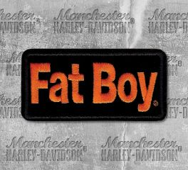 Harley-Davidson® Small Fat Boy Embroidered Patch, Global Products, Inc. EMB066643