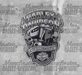Harley-Davidson® Large Milwaukee Eight Engine with Skulls Patch, Global Products, Inc. EM255904