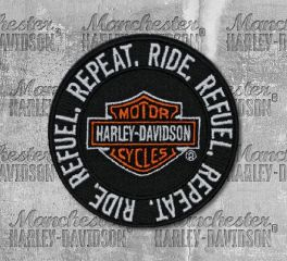 Harley-Davidson® Ride, Refuel, Repeat Embroidered Patch, Global Products, Inc. EM279661