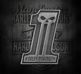 Harley-Davidson® No.1 Skull Antique Silver Finish 3D Die Cast Pin, Global Products, Inc. P718062