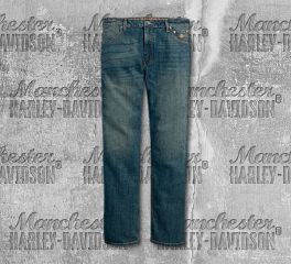 Harley-Davidson® Straight Leg Fit Modern Stretch Jeans 99054-18VM