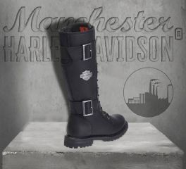 Harley-Davidson® Women's Performance Belhaven Knee-High Black Leather Boots, Wolverine D87082