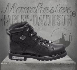 Harley-Davidson® Men's Black Ruskin Motorcycle Leather Boots, Wolverine D93471